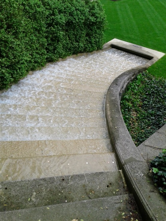 Even simple stone steps could become a waterfall.