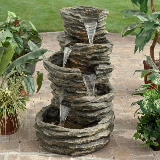 A simple stone fountain is also a great addition to your garden, that you can move if necessary.