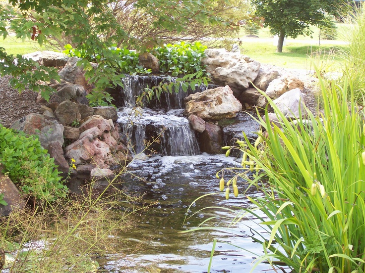 63 relaxing garden and backyard waterfalls digsdigs - Idee deco de jardin exterieur ...