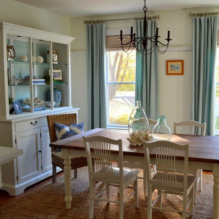 Casual Dining Rooms Decorating Ideas For A Soothing Interior: 26 Relaxing Coastal Dining Rooms And Zones