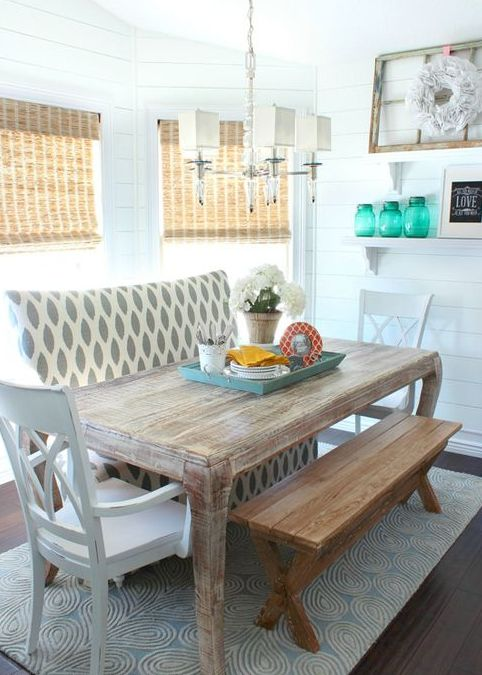 26 relaxing coastal dining rooms and zones digsdigs Beach Theme Kitchen Small Kitchen Design Ideas