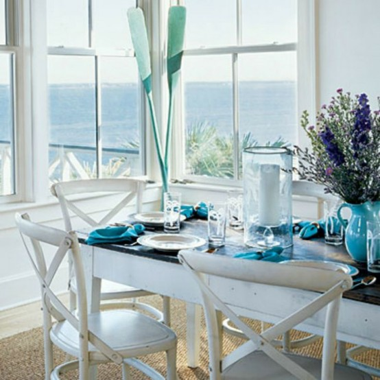 26 Relaxing Coastal Dining Rooms And Zones