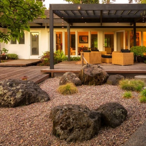 Relaxing Japanese Inspired Front Yard Cor Ideas Digsdigs