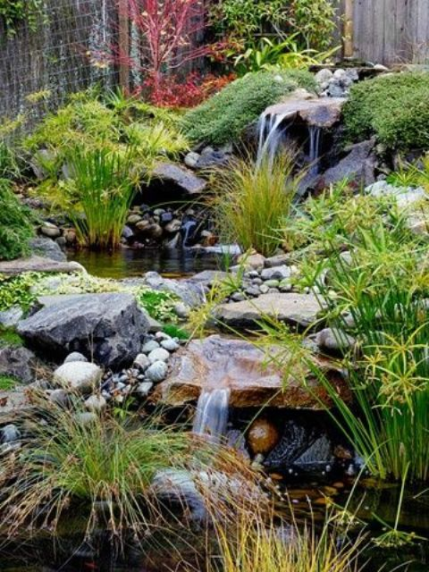 18 relaxing japanese inspired front yard d cor ideas for Making a garden pond and waterfall