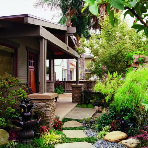 Beautiful Home Gardens Designs Ideas: 18 Relaxing Japanese-Inspired Front Yard Décor Ideas