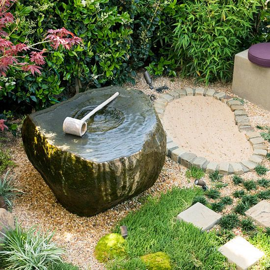 Picture of relaxing japanese inspired front yard decor ideas for Front yard decor