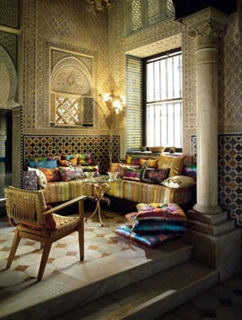 Charming Relaxing Moroccan Living Rooms