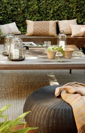 Relaxing Terrace Desing In Natural Wood And With Lots Of Green