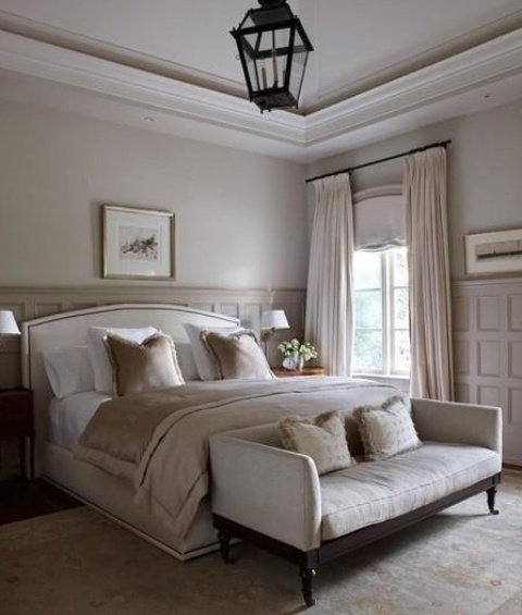 36 relaxing neutral bedroom designs digsdigs for Blue and taupe bedroom ideas