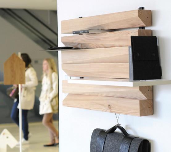 Remlshelf Artistic And Space Saving Wood Shelving