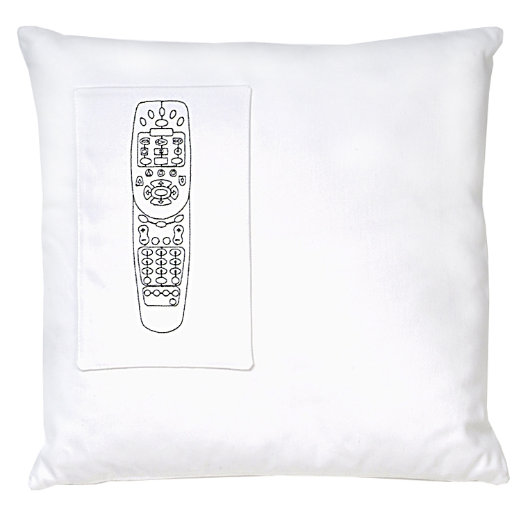 Pillow with Remote Control Pocket by K Studio