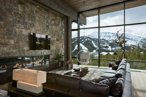 Remote Mountain Chalet With Luxury Inside And Outside DigsDigs