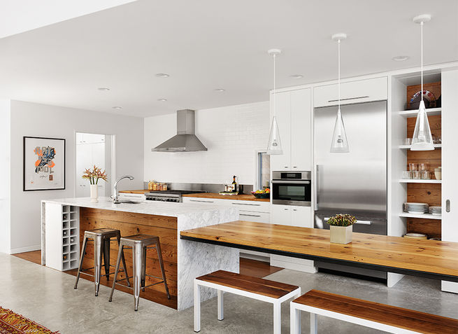 Renovated 1920s bungalow with a glass addition digsdigs - Altura campana cocina ...
