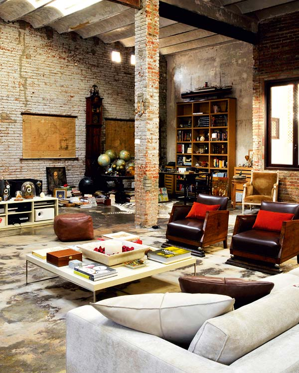 Loft Apartment Living Room Ideas: Renovated Loft With Industrial Interior Design