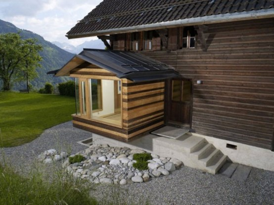 Renovation Of Century Old Chalet In Swiss Alps