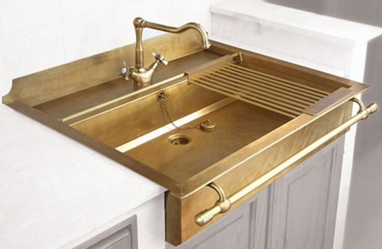 Retro Brass Sink Of True Vintage Material And Looks