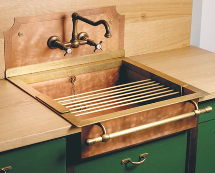 Brass Sink : Retro Brass Sink Of True Vintage Material And Looks