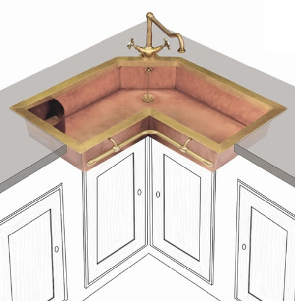 Kitchen Sink Corner : Remarkable Corner Kitchen Sink Dimensions 600 x 611 ? 114 kB ? jpeg