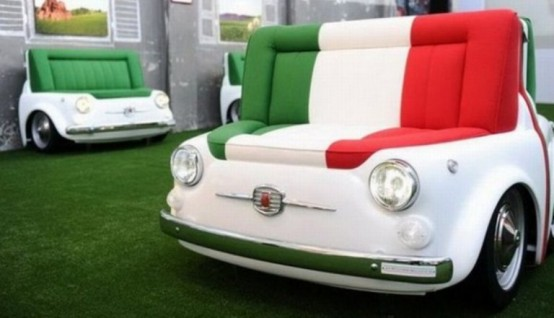Furniture Collection Inspired By Retro FIAT Cars