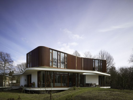 Retro Futuristic House Design by Mecanoo Architecten