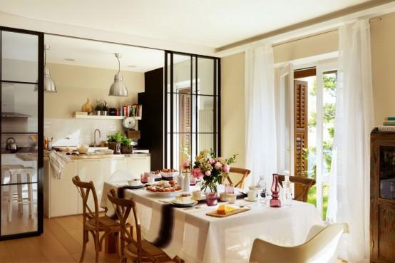 Retro Kitchen Design With Industrial Touches