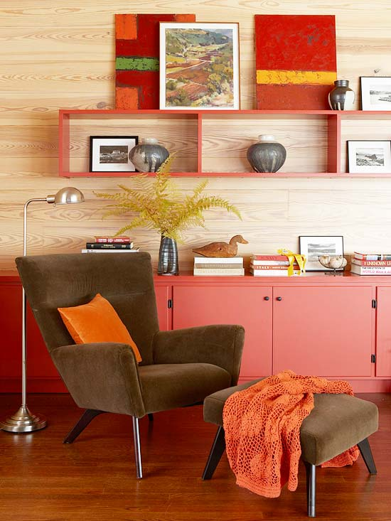 Retro Red Living Room
