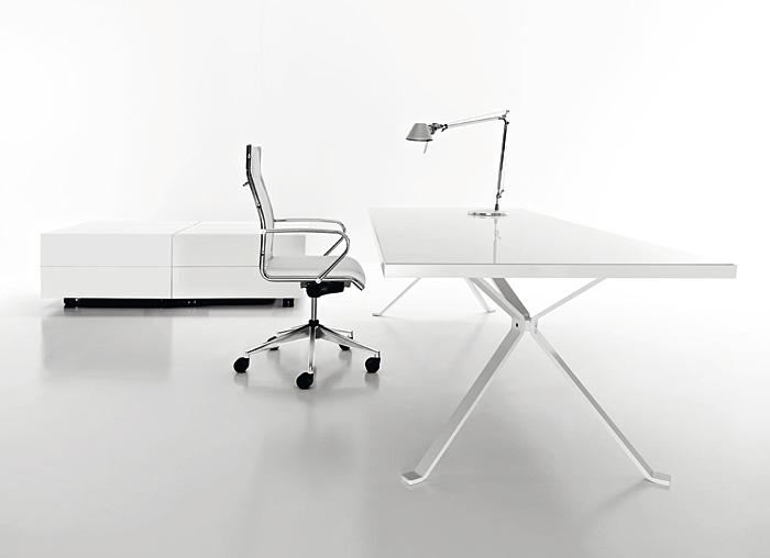Revo Minimalist White Desk by Manebra
