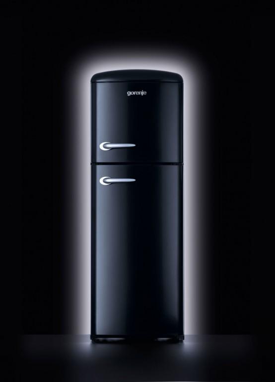 Tiny House Appliances >> New Contemporary Retro Refrigerator by Gorenje - DigsDigs