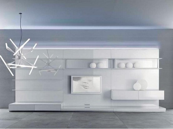 Rimadesio Completely White Living Room Furniture