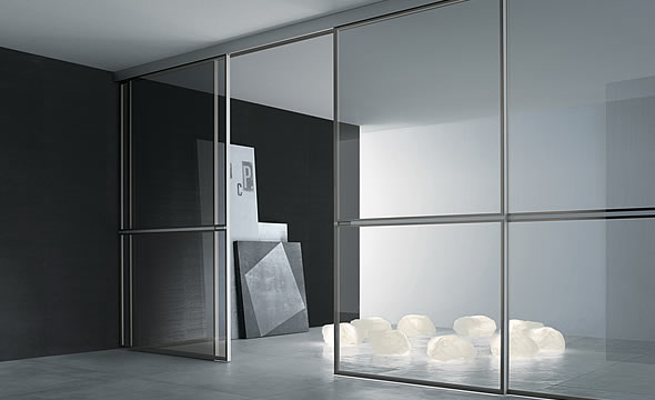 rimadesio sliding systems digsdigs. Black Bedroom Furniture Sets. Home Design Ideas