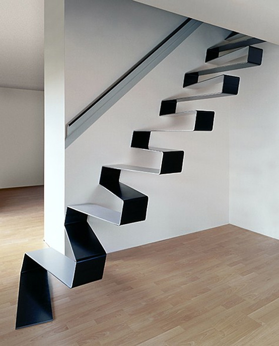 10 The Most Cool Floating Staircase Designs