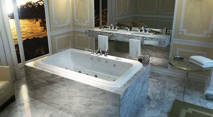 Vintage Looking Bathtub With Curved Design Roman Bathtub By Maax Collection Digsdigs