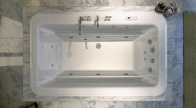 Vintage Looking Bathtub With Curved Design Roman Bathtub