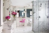 Romantic And Peaceful Bathroom Of Marble