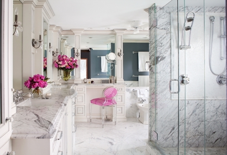 Romantic and peaceful bathroom design of marble digsdigs for Romantic master bathroom