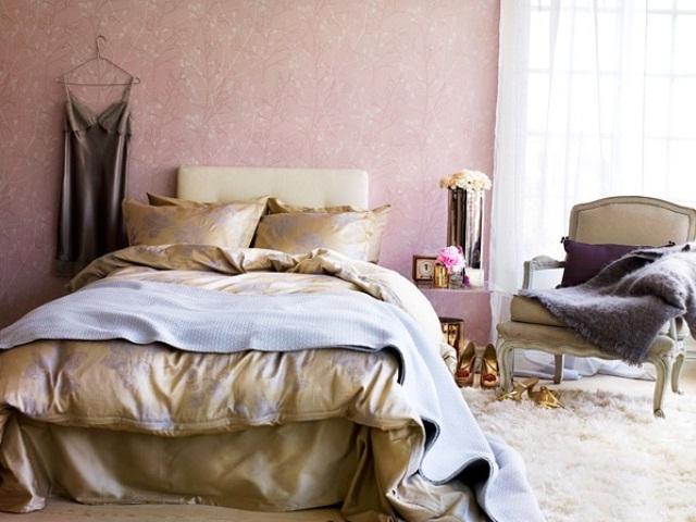 66 romantic and tender feminine bedroom design ideas for Dusty rose bedroom ideas
