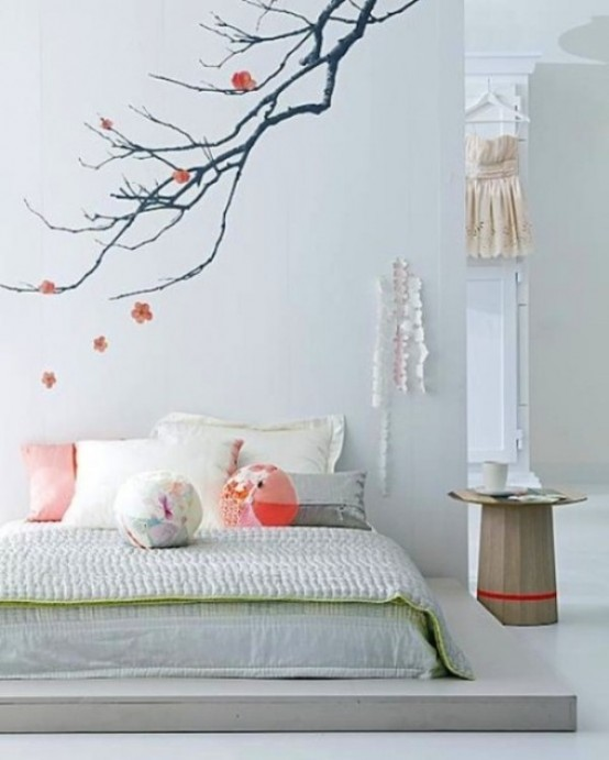 Zen Interior Design Bedroom Rainbow Bedroom Wallpaper Recessed Lighting Bedroom Placement Bedroom Colours With Oak Furniture: 66 Romantic And Tender Feminine Bedroom Design Ideas