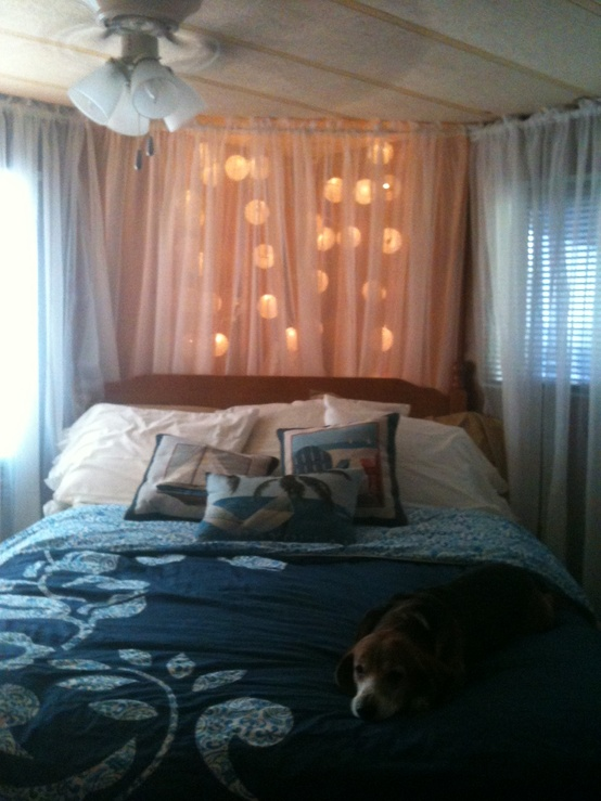 Curtains Ideas curtain lights for bedroom : 48 Romantic Bedroom Lighting Ideas - DigsDigs