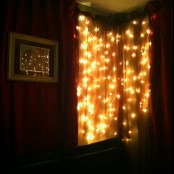 a light curtain on your window will bring light but it won't be too much as it's not over the bed