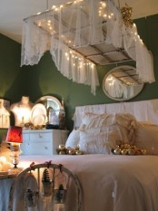 Romantic Bedroom With Soft Lights