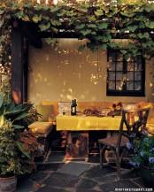 Romantic Outdoor Dining Area