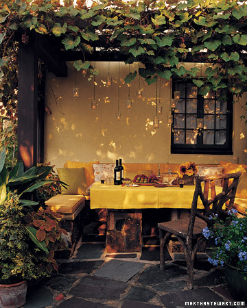 Romantic Outdoor Dining Area