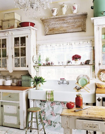 Romantic Rustic Vintage Kitchen