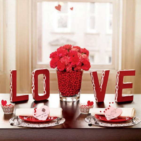 Valentine home decorations architecture design for Table design for valentines day