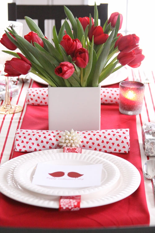 Romantic Valentineu0027s Day Table Settings & 59 Romantic Valentineu0027s Day Table Settings - DigsDigs