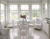 Romantic White House Of Natural Wood