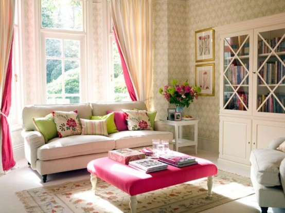 Beautiful Romantic Feminine Living Room