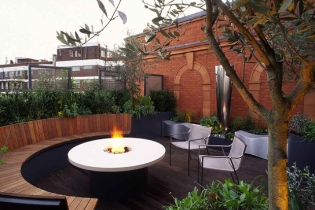 53 inspiring rooftop terrace design ideas digsdigs for Circular garden decking