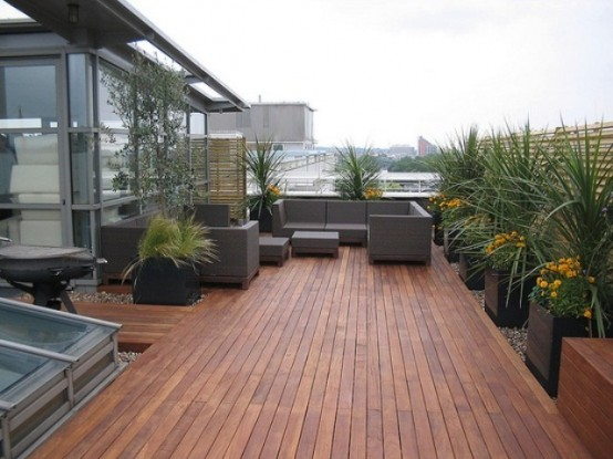 75 inspiring rooftop terrace design ideas digsdigs for Terrace roof ideas