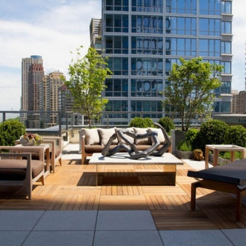 75 inspiring rooftop terrace design ideas digsdigs for Apartment design with terrace